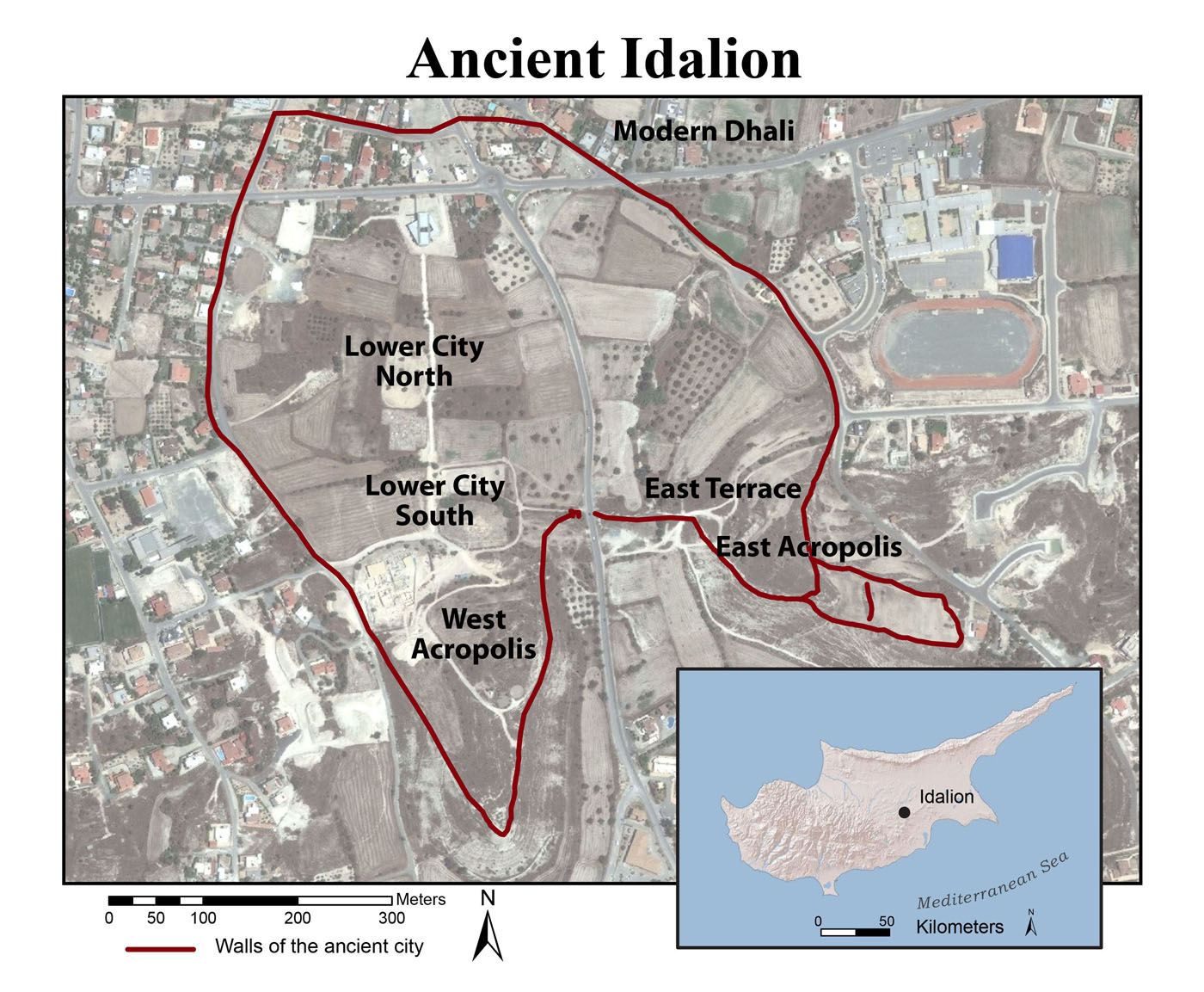 Idalion site map