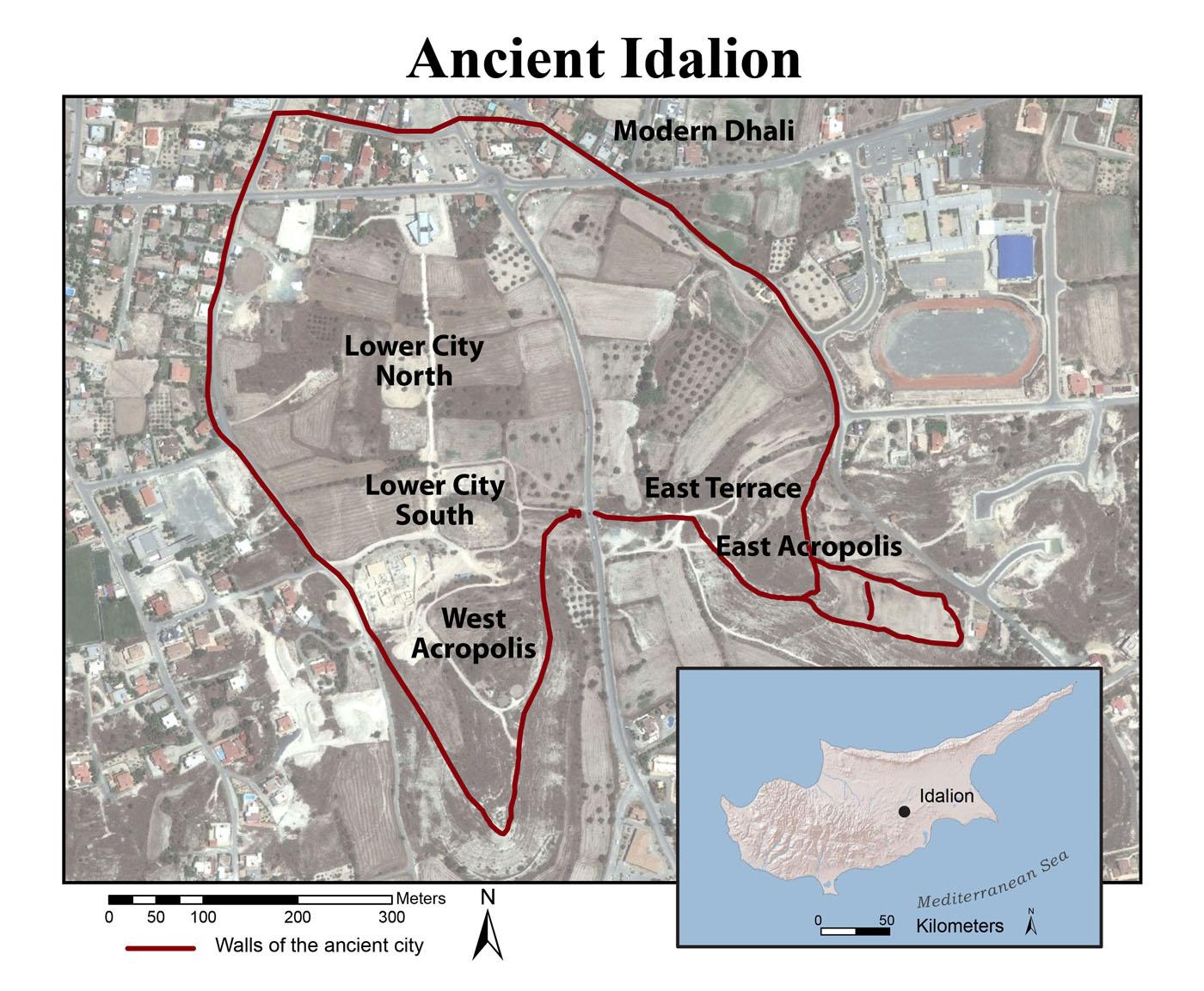 Idalion site map