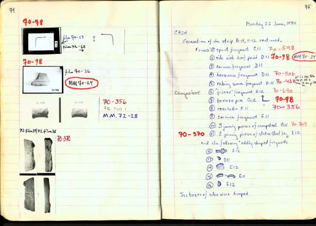 Thumbnail for Trench Book BB I:74-75