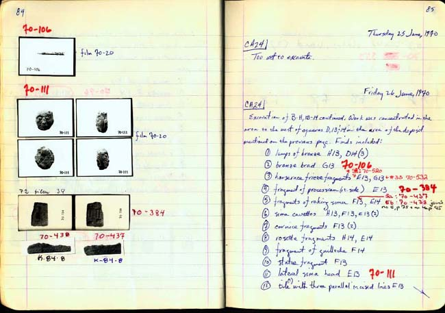 Thumbnail for Trench Book BB I:84-85